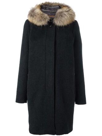 coat women dog mohair black wool