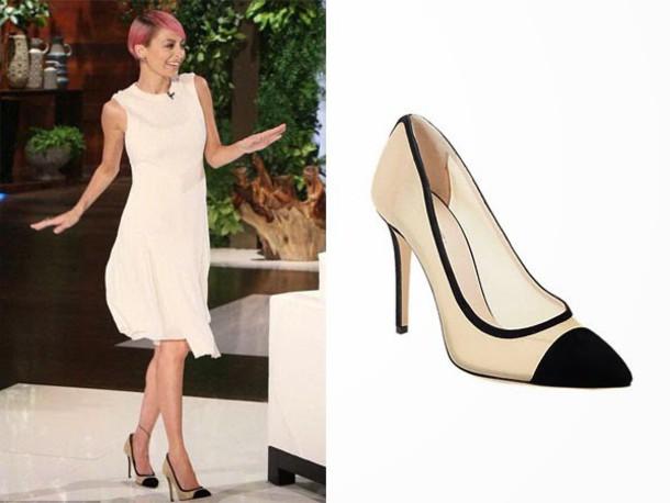 shoes pumps dress nicole richie