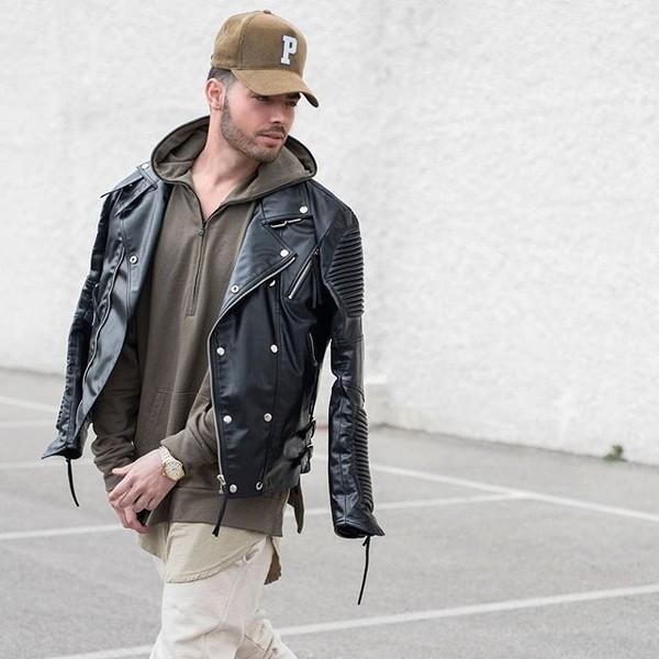 jacket maniere de voir leather jacket leather biker jacket 36683