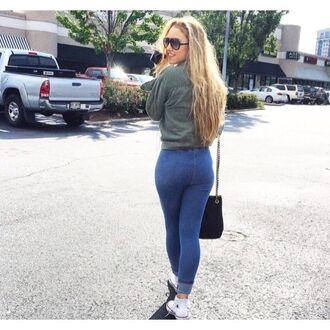 leggings emily huff denim leggings tight jeans