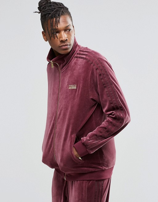 adidas Originals Archive Velour Beckenbauer Track Jacket AY9223 at ...