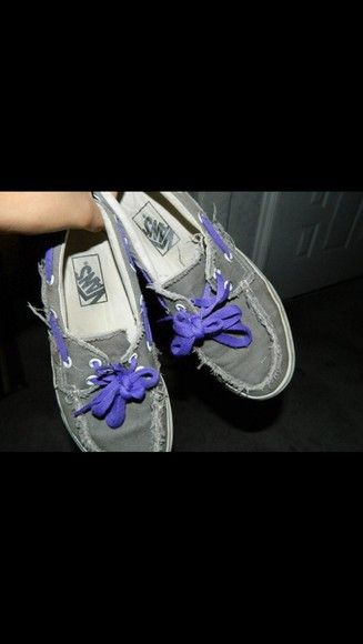 shoes vans purple grey