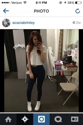 jeans,acacia brinley,tank top,shoes,t-shirt