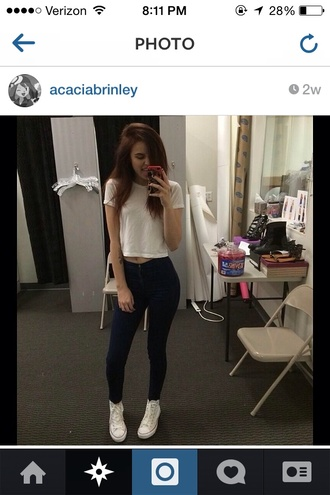 jeans acacia brinley acacia tank top shoes t-shirt