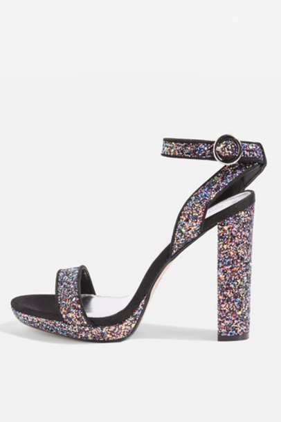 Topshop glitter sandals shoes