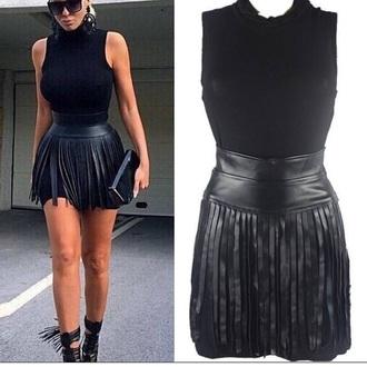 dress fringed dress black dress black little black dress two piece dress set fashonista fashion style