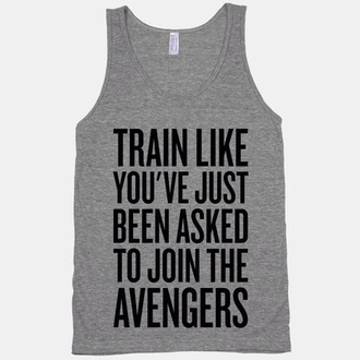 tank top the avengers t-shirt grey workout gym clothes marvel sportswear workout top top grey tank top