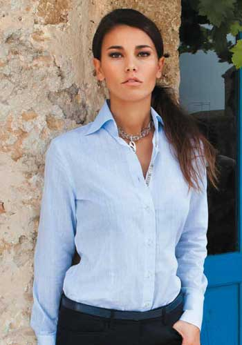 Allegra light blue woman's shirt -  Camixa