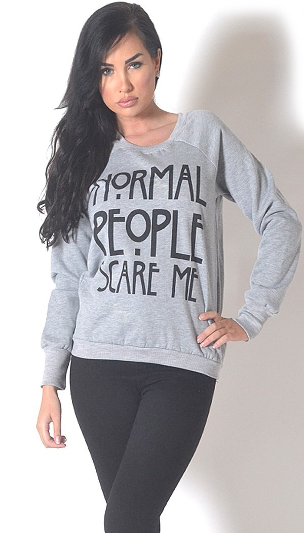 Lethalbeauty ? normal people scare me sweater