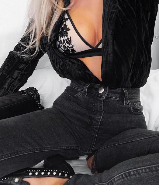 underwear party lingerie lingerie bralette top v neck plunge v neck