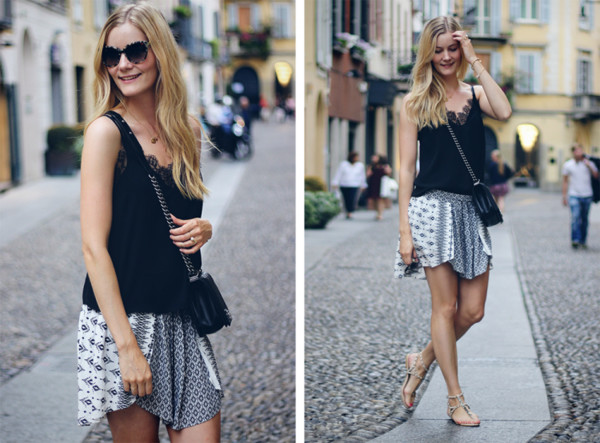passions for fashion top skirt shoes bag sunglasses jewels
