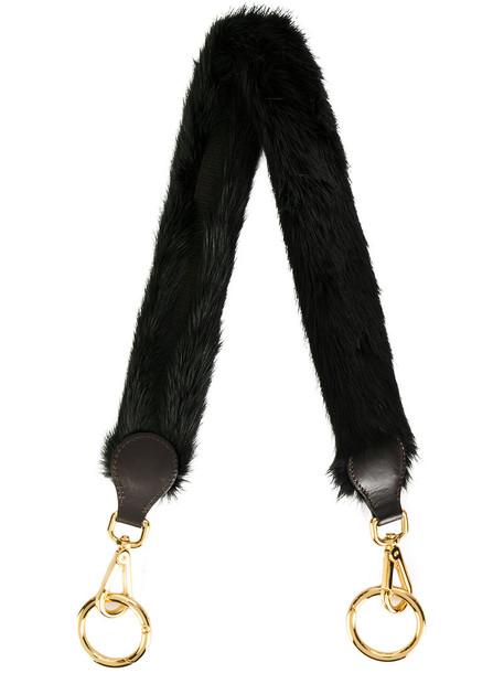 SIMONETTA RAVIZZA fur women bag black