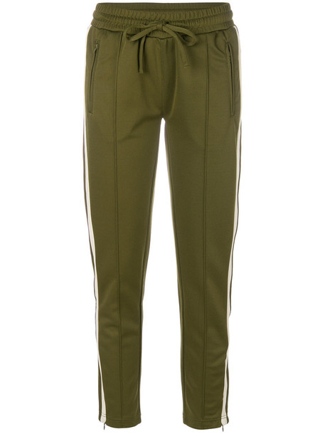 pants track pants women fit green