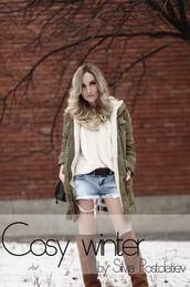 rock and roses,shoes,shorts,coat,bag,jewels,pants,sweater