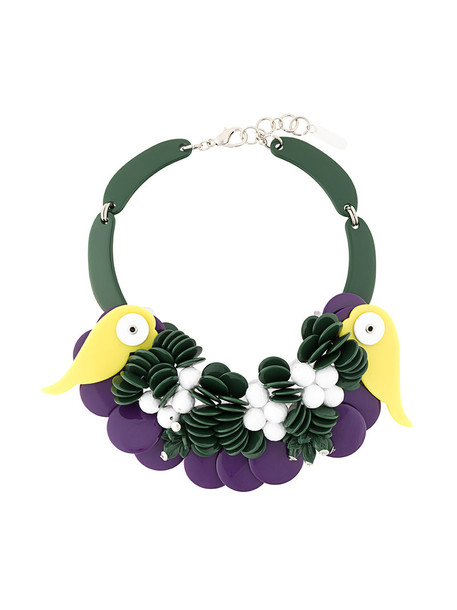 P.A.R.O.S.H. women novelty necklace green jewels
