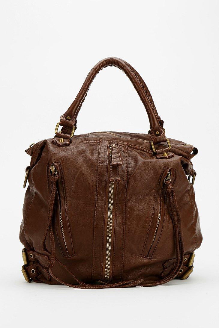 Deena & Ozzy Zip-Front Moto Hobo Bag  - Urban Outfitters