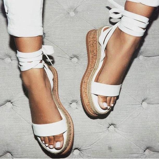 shoes white platform shoes