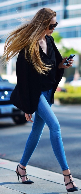 jeans jeggings skinny mid wash kristina bazan fashion blogger red lime sunday