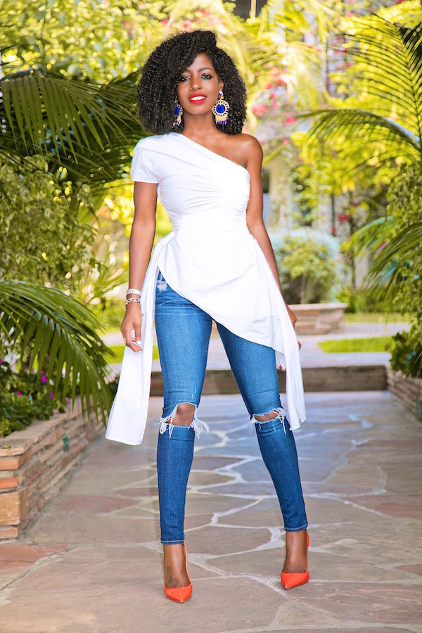 blogger top jeans jewels bag shoes pumps high heel pumps white top summer outfits
