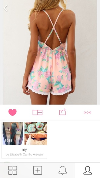 romper summer outfits shorts floral floral shorts pink