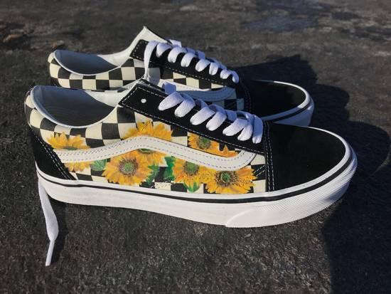 yellow checkered sunflower vans