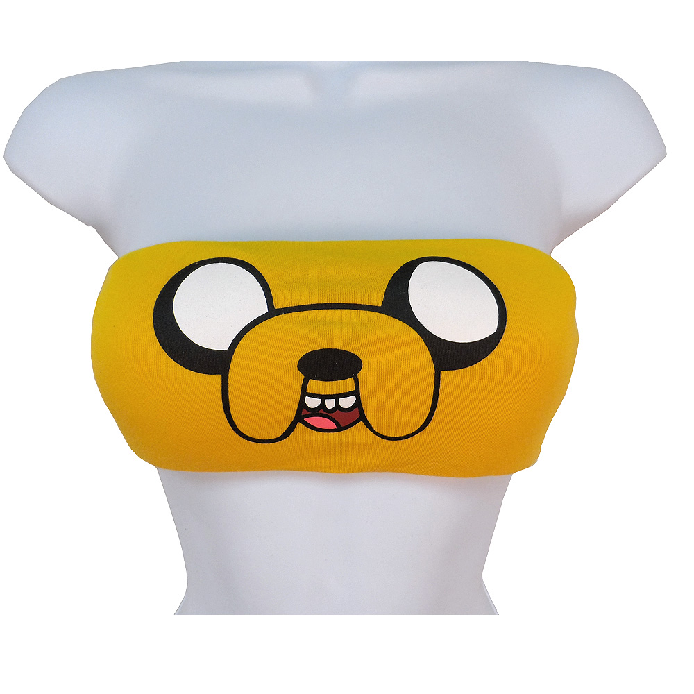 Adventure time jake face licensed bandeau tube top strapless bra s
