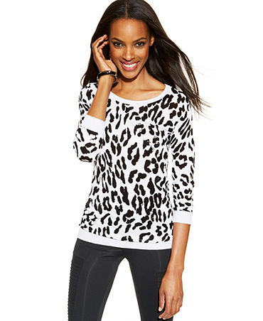 INC International Concepts Leopard-Print Embellished Sweater - Sweaters - Women - Macy's