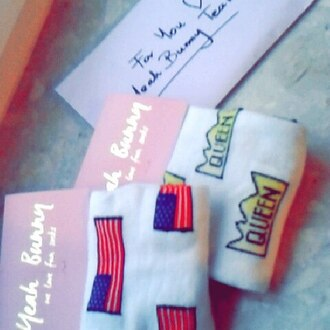 socks yeah bunny american flag usa cute american flag socks cute socks