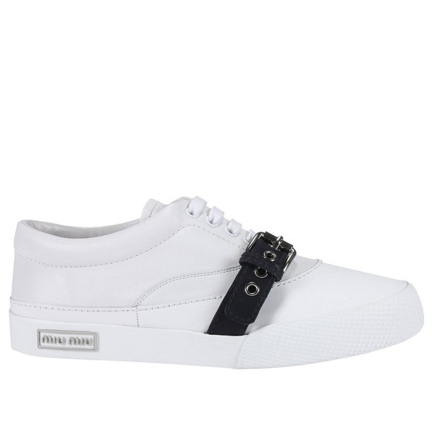 Miu Miu sneakers. women sneakers shoes white