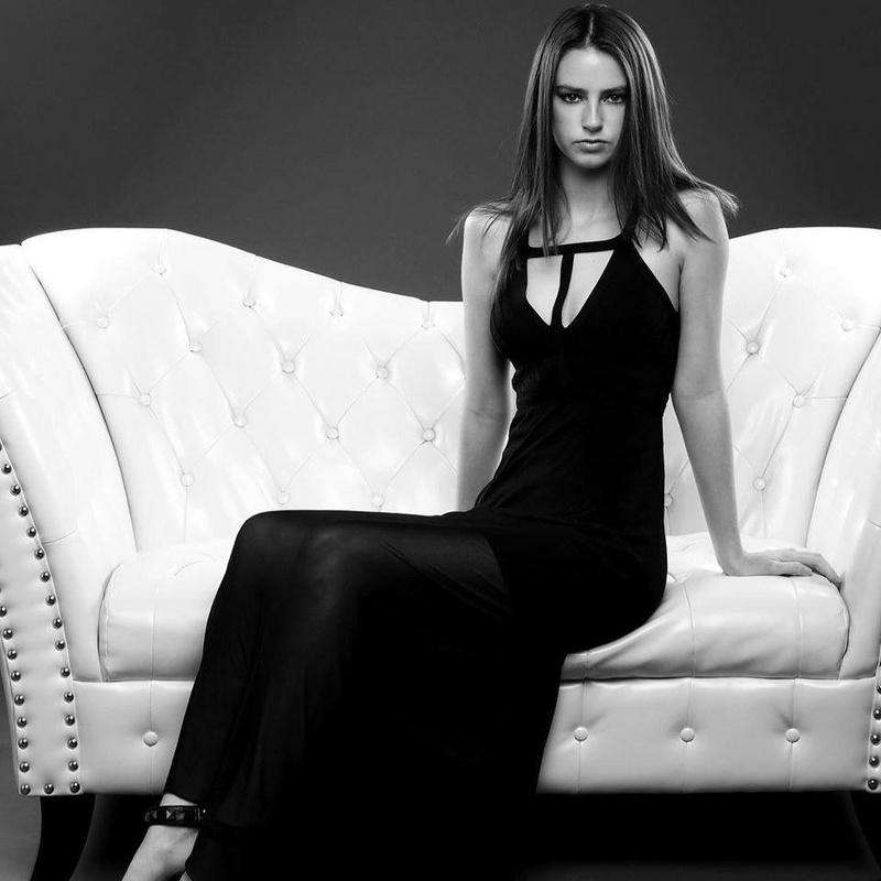 Black elegant cut out backless bandage dress h946$109