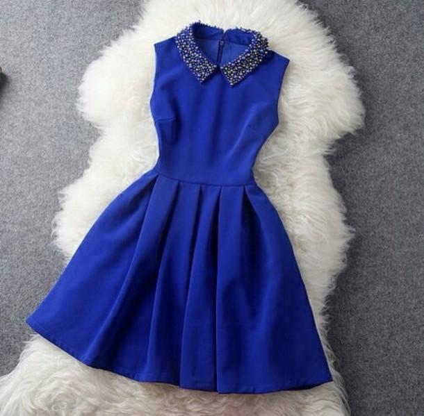 dress blue dress girls