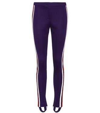 cotton purple pants