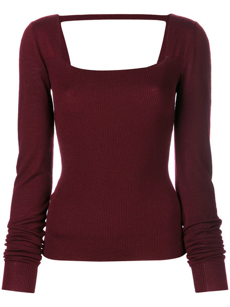 Chalayan top knitted top back open open back women red