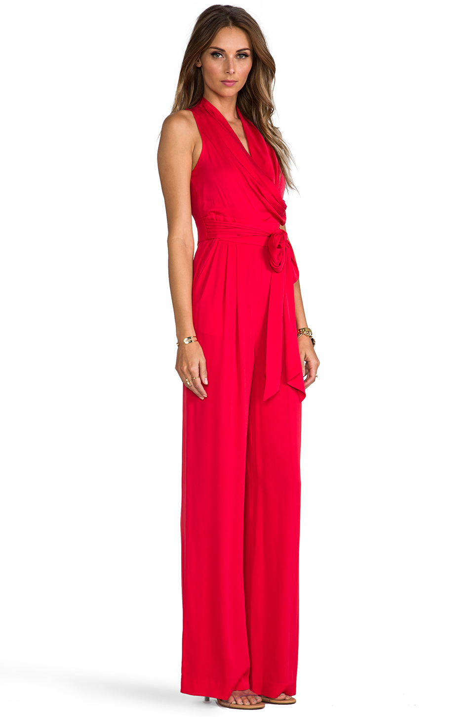Catherine Malandrino Marion Favorites Jumpsuit in Vermillion | REVOLVE