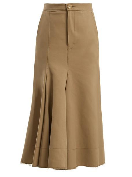 Joseph skirt midi skirt midi cotton silk beige