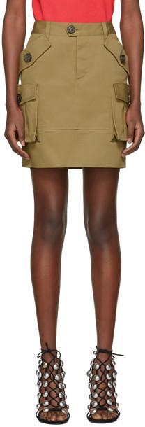 miniskirt khaki skirt