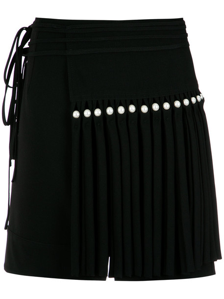 Reinaldo Lourenço - fringed skirt - women - Acetate/Viscose - 40, Black, Acetate/Viscose