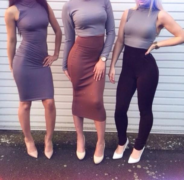 dress shoes sweater skirt pants tank top