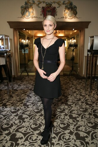 little black dress dianna agron dress shoes