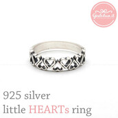 jewels,jewelry,ring,sterling silver ring,hearts ring,heart,heart jewelry,forever,little,little hearts ring,band