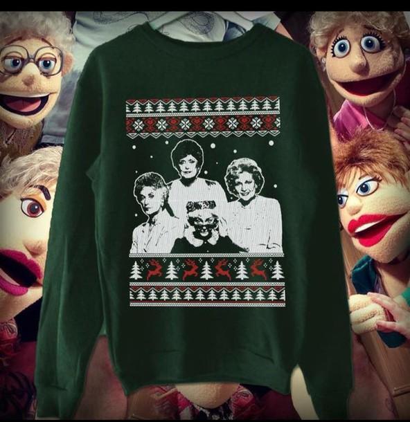 sweater golden girls christmas sweater wheretoget
