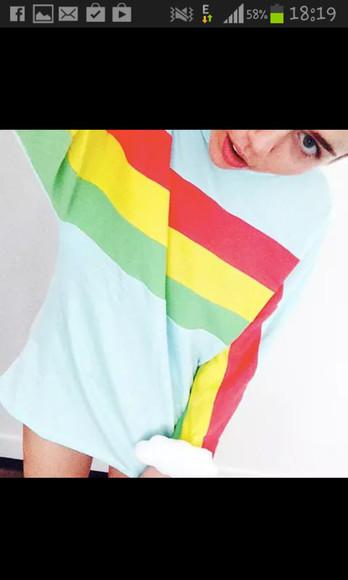 rainbow pajamas colour cloud miley cyrus miley cyrus miley cyrus t-shirt