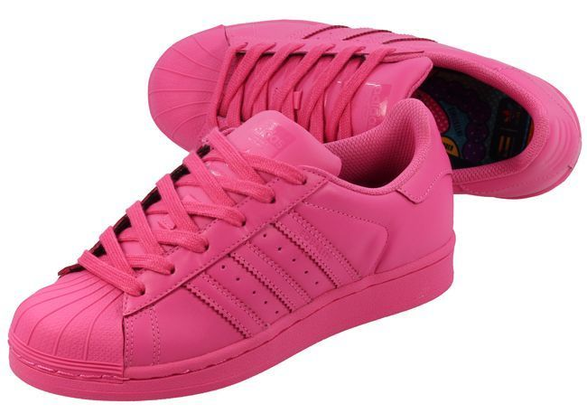 best authentic 2bd6d 9da5a Pharrell Adidas Originals Superstar Supercolour SEMI SOLAR PINK BNIB UK 4