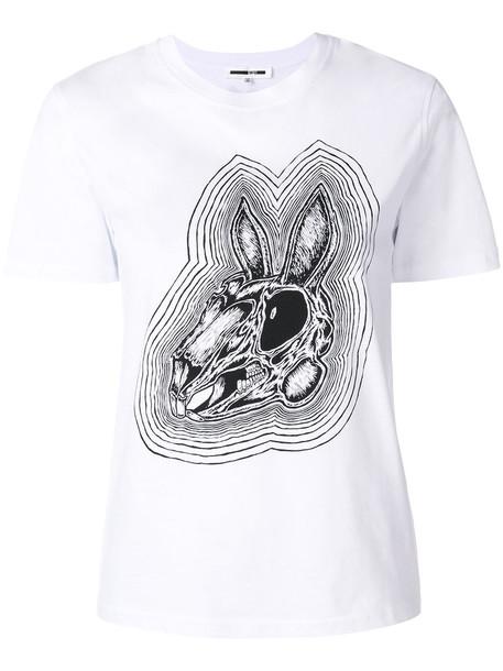 McQ Alexander McQueen - Bunny Be Here Now T-shirt - women - Cotton - L, White, Cotton