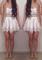 Crochet cut out skirt