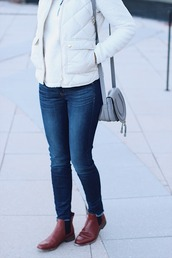 lilly's style,blogger,jacket,jeans,top,shoes,bag
