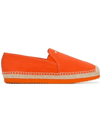 women classic espadrilles cotton yellow orange shoes