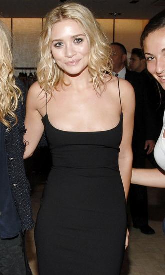 dress little black dress mary-kate olsen ashley olsen spaghetti straps
