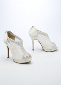 WHITE LACE BOOTIE HEELS on The Hunt