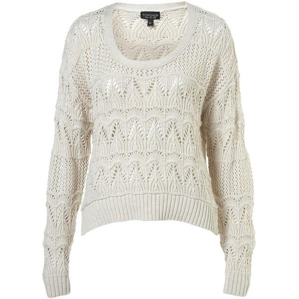 Knitted pointelle crop jumper